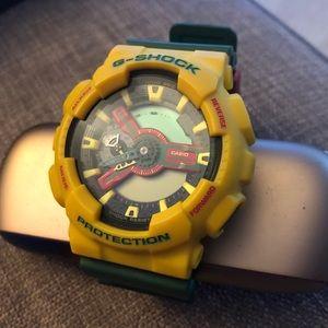 Casio G-SHOCK Rastafarian Green Yellow Watch